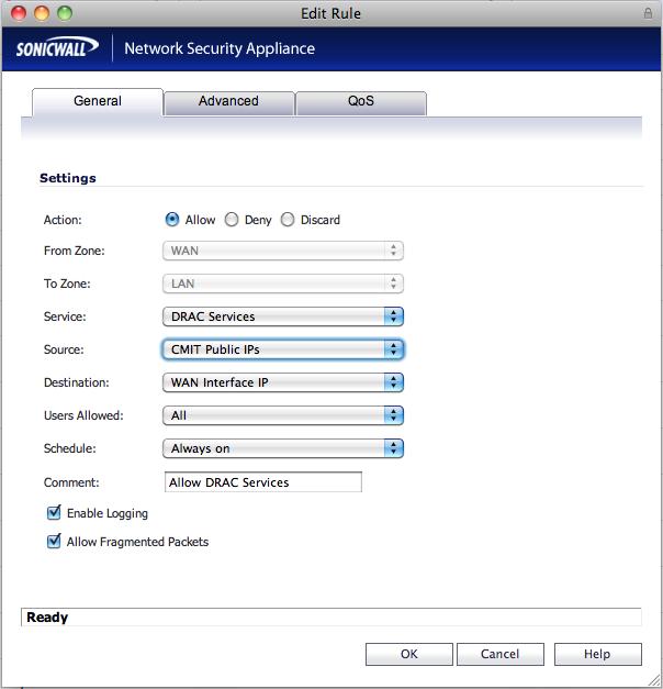 Allow Access to a Dell Remote Access Controller (DRAC or iDRAC